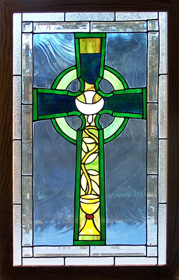 Celtic Cross with Dove and Chalice
